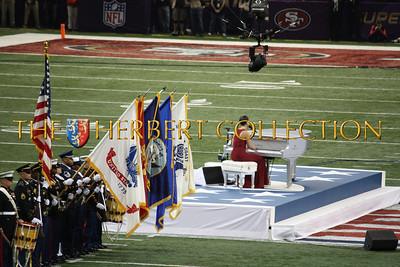 Alicia Keyes sings the National Anthem