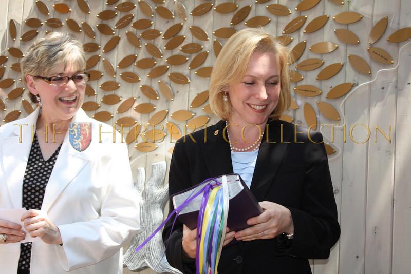 NY Senator Kirsten Gillibrand graciously accepts bible