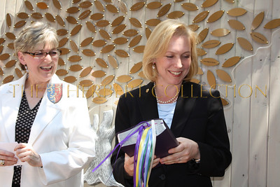 NY Senator Kirsten Gillibrand graciously accepts bible