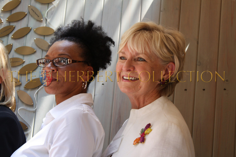 Veronica Kelly, Director of  Special Projects at The Bowey mission on right with a resident