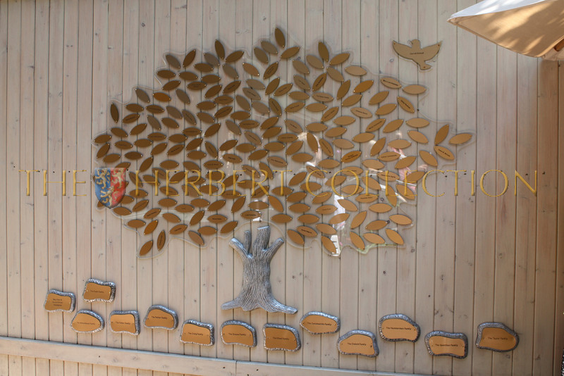 The Tree of Hope<br /> Names of donors are engraved and placed on the tree as a dedication to them