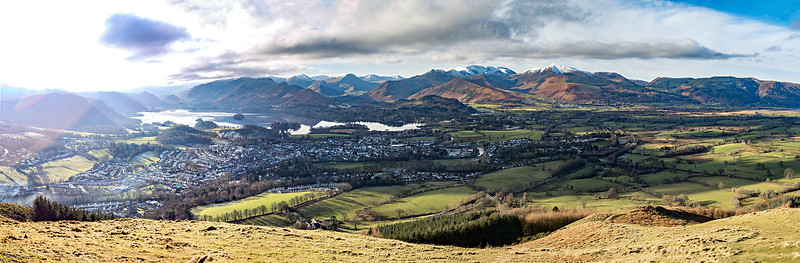 Mon 30th Jan : Latrigg : Keswick and the North Western Fells Panorama