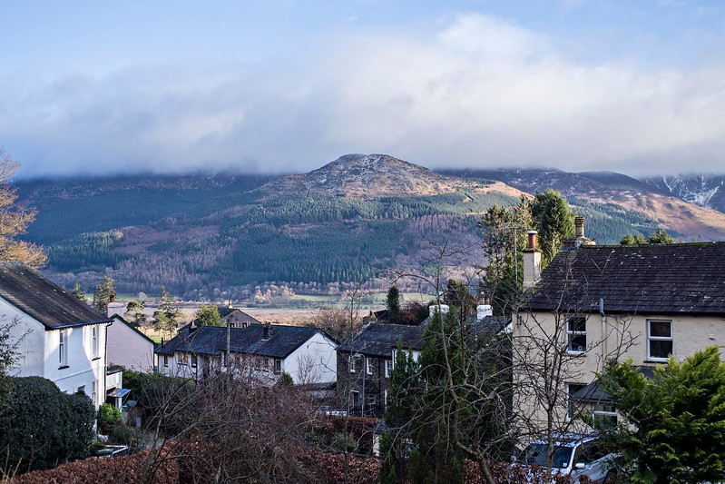 Sat 14th Jan : Skiddaw From Our House : Cloud Behind Dodd