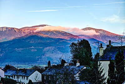Sat 21st Jan @16-16 : Skiddaw From Our House