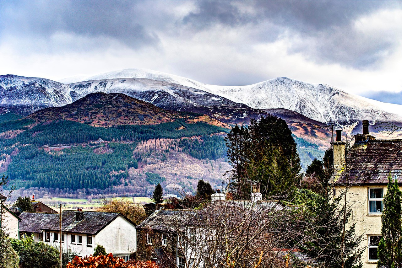 Sun 12th Feb : Skiddaw From The House : Wintry Wild On The Tops
