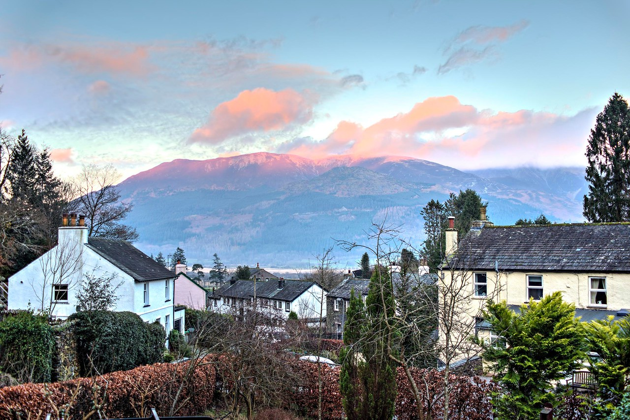 Mon 23rd Jan @ 16:20 : Skiddaw From Our House