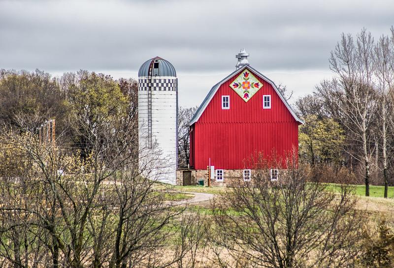 Red Barn at Minnesota Landscape Arboretum