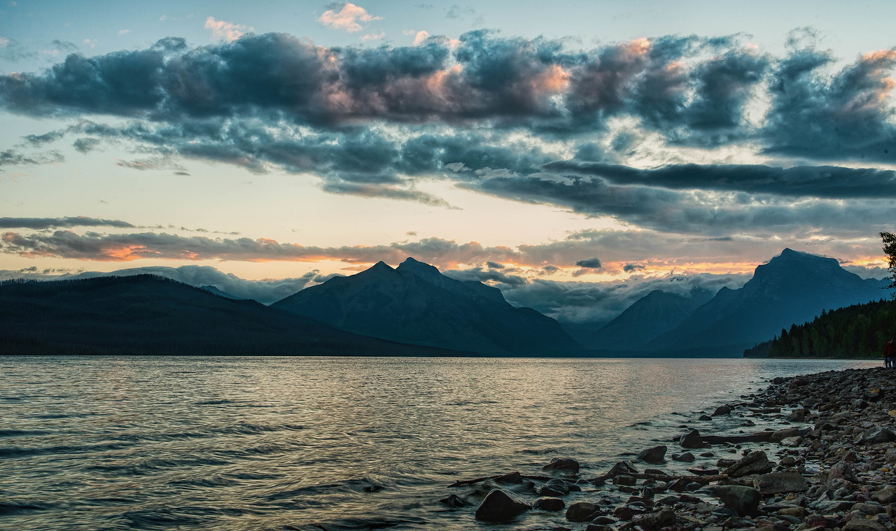 Sunrise on McDonald Lake