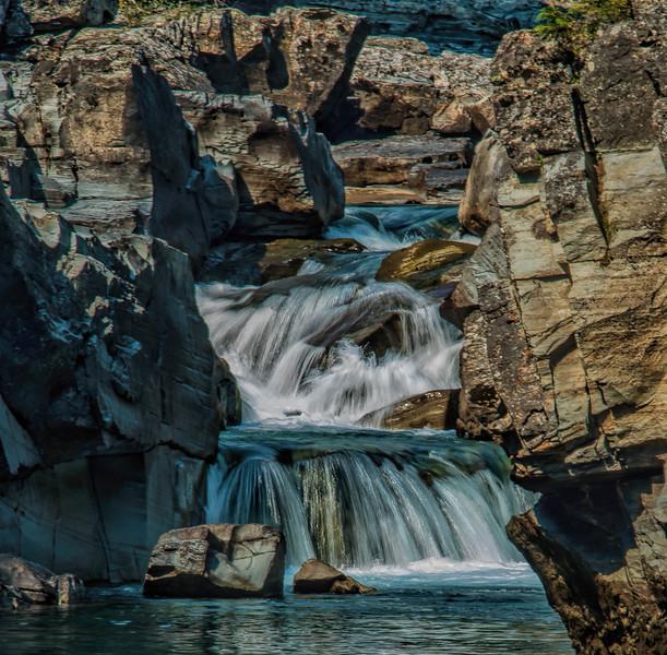 Flowing waterfall