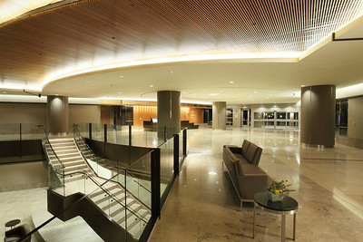 Main reception area and staircase,  El Camino Hospital
