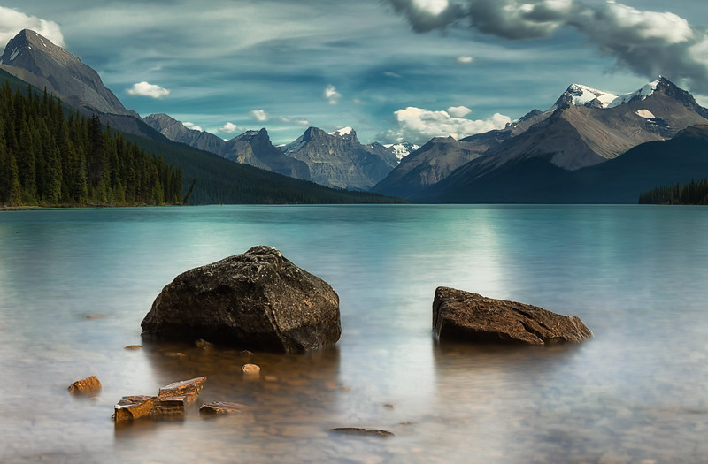 Peaceful dreaming on Maligne Lake