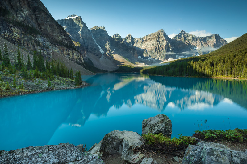 Moraine Lake and the Valley of Ten Peaks.