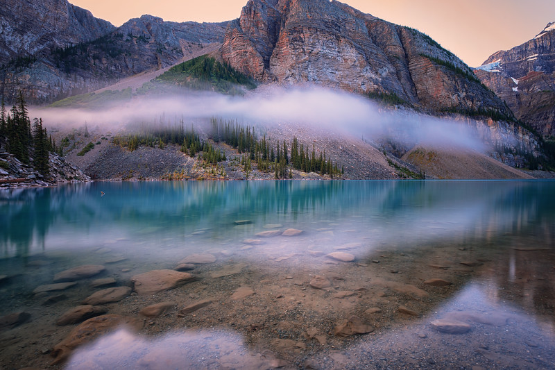 Early morning at Moraine Lake.