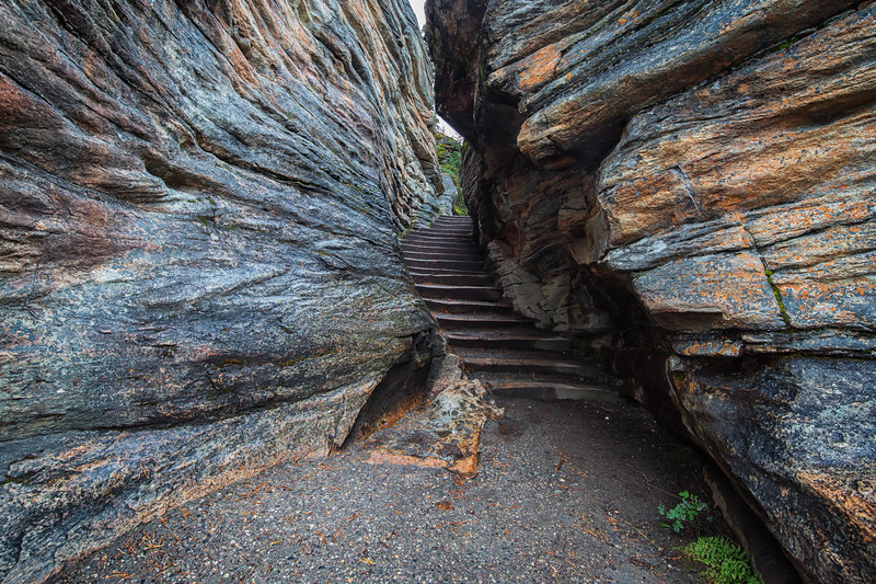 Stairway to Athabasca Falls