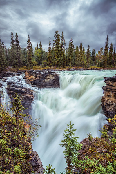 Athabasca Falls (Vertical Orientation.)