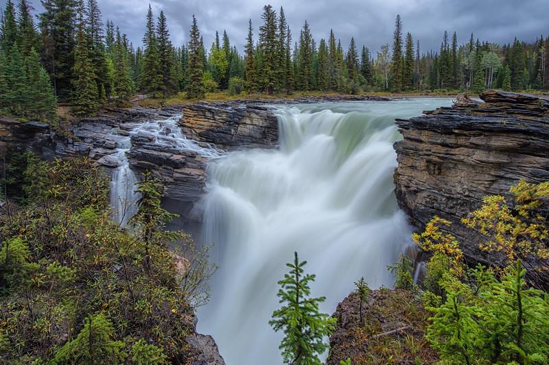 Athabasca Falls. (Landscape orientation.)