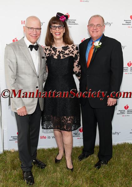 Distinguished Service Award Honoree, Dr David H Adams M D, Event Chair Meredith Cohen,  Distinguished Leadership Award Honoree, Howard C  Bluver