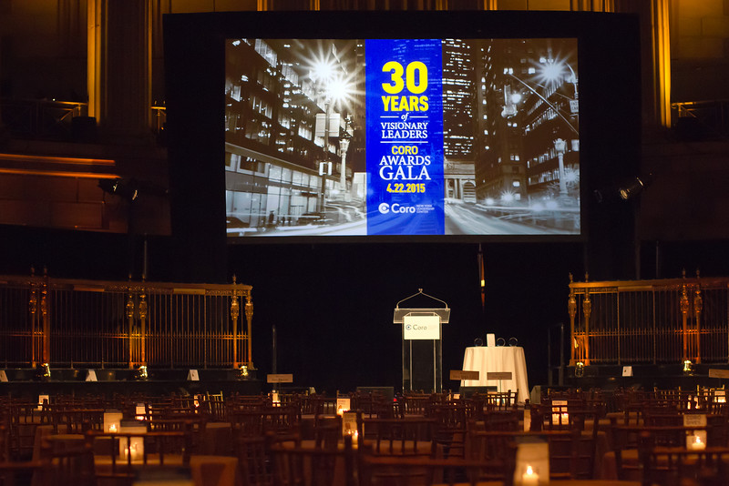 CORO NEW YORK LEADERSHIP CENTER CELEBRATES  30 YEARS OF VISIONARY LEADERS AT ANNUAL GALA