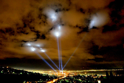 Many people complained that the Dark MOFO lights this year reminded them too much of German air raids over London during the blitz of World War Two.