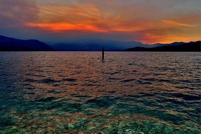 Dusk at Lake Chelan