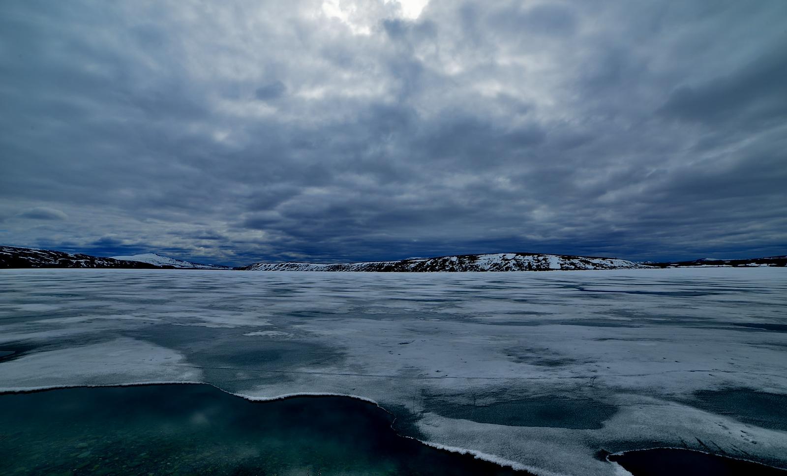 Summit Lake in the Alaska Range