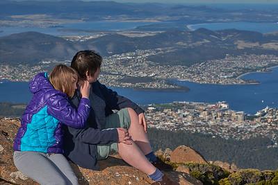 At the Mt Wellington Pinnacle