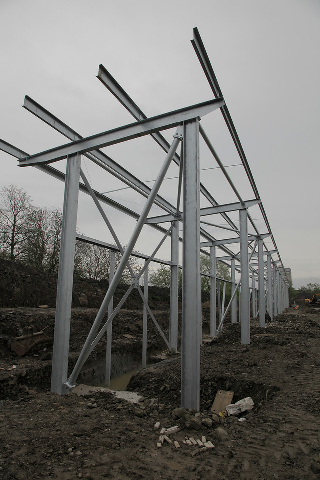 North Stand steel in place