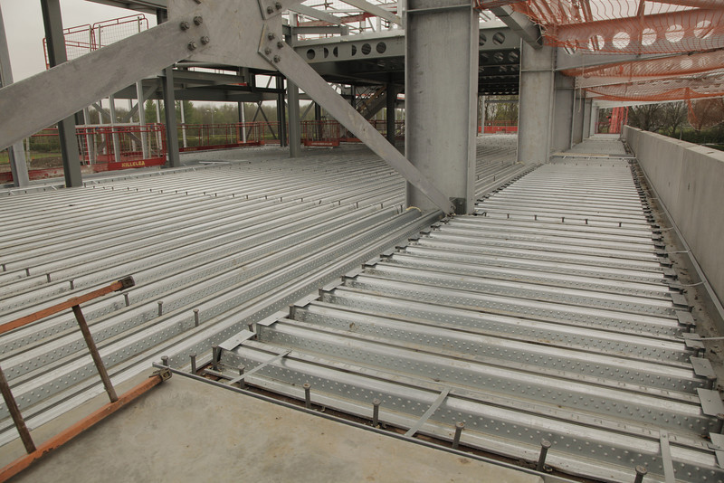 Steel flooring down - view towards south west