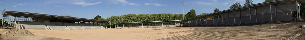 Panoramic shot - facing  west