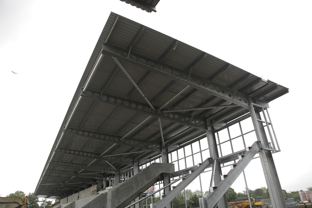 main stand - roof completed