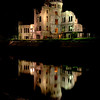 "Hiroshima Peace Park ""A-Bomb Dome""  night reflection"