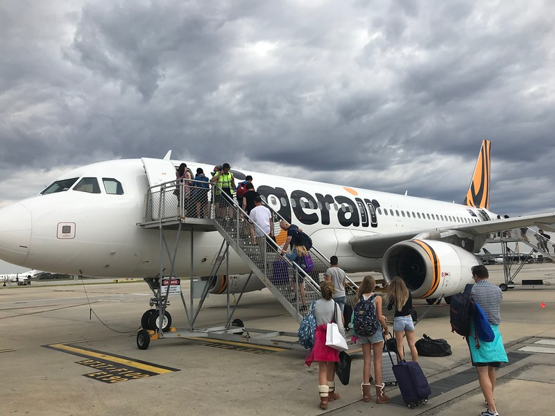 I would be flying Tigerair to Brisbane.