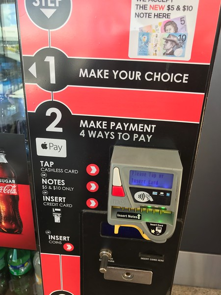 I couldn't recall using Apple Pay at a vending machine before.