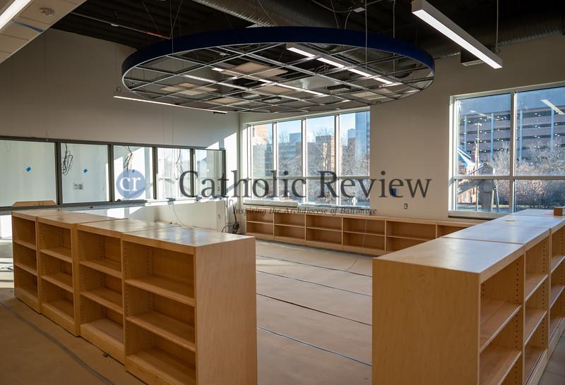 Mother Mary Lange Catholic School media center. (Kevin J. Parks/CR Staff)