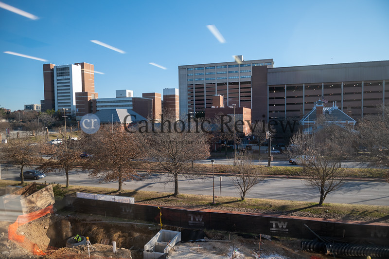 Martin Luther King Jr. Boulevard and the Baltimore City skyline is just one view students will have when the Mother Mary Lange School opens in fall 2021. (Kevin J. Parks/CR Staff)