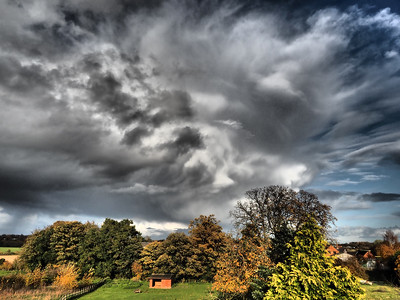 Autumn Stormy sky