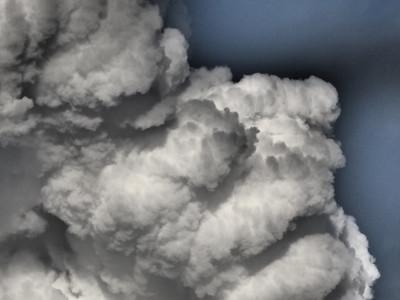 Convective storm clouds