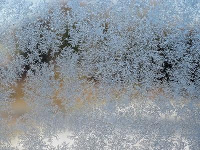 Ice on window