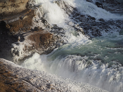 Gullfoss waterfall. Olympus E-M1, 75-300mm m4/3 lens. This is one massive & powerful waterfall. Plenty of opps for wide shots together with close up shots such as this. Nice wide'ish shot (75mm) showing the first falling waters. Take plenty of lenses :-)