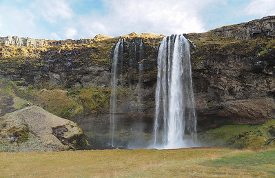 Seljalandsfoss waterfall. Olympus E-M1, 12-60mm Another spectacular waterfall and one you can walk behind. This shot captured with the 4/3 12-60mm. So pleased to know that my 4/3 lenses are producing equally, if not better images with the E-M1.