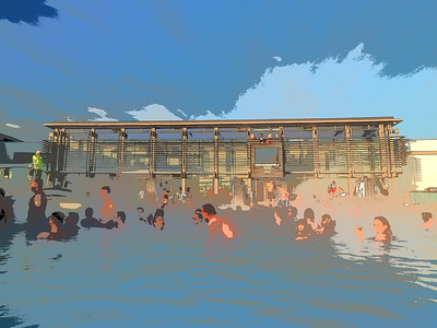 Blue Lagoon Geothermal pools. Olympus E-M1, 12-60mm SWD 4/3 lens. F5, 1/400s, ISO 200. Shot using the new Key line art filter. An interesting filter this and more of the artistic side. It works particularly well with buildings (strong lines).