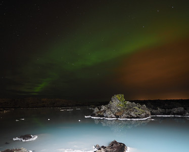 Aurora over Blue Lagoon Geothermal pools. Olympus E-M1, 12mm m4/3 lens. F2, ISO 400, 13s  Good solar geomagnetic forecast (and clear skies) allowed for Aurora opportunities. During the daytime I located a good foreground subject (Geothermal pool with its milky blue water) with a view to returning later that evening. This was composed & shot with the live bulb mode which allowed me to perfectly expose the Aurora brightness. A very useful tool indeed for this subject (especially when stitching). I shot numerous images of the aurora using the m4/3 12mm lens & the 4/3 lenses (8mm & 7-14mm) and the m4/3 12mm won hands down in exposure speed & quality. It handled the low light far quicker and better than the 4/3 series I found.