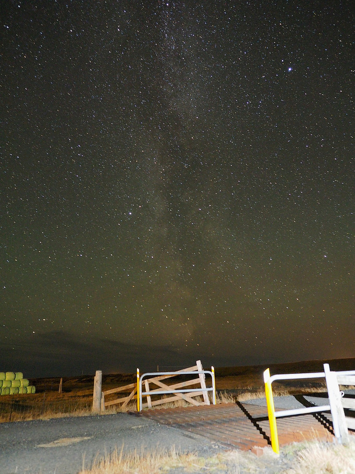 Milky Way, Solheimahjaleiga, 24km west of Vik. Olympus E-M5, 12mm m4/3 lens. F2.5, 45s, ISO 1600. Making the most of the light pollution free skies I set about capturing some long exposure images. To assist I utilised the nifty Live Bulb/Time mode, a great feature of he E-M1. Essentially once you depress the shutter release an image pops up sequentially on the LCD every few seconds allowing a visual of the subject/exposure (you can choose how long interval) whilst still long exposing. Simply a case of waiting for the exposure to be as bright or dark as you desire and then press the shutter release to finish. Very pleased with this Milky Way image since I set the ISO to a high 1600 and the resulting image has noise but handles it well. The star detail is good. In hindsight I should held back on the foreground light painting as this has slightly over burned.