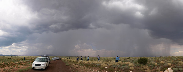 Stormchasers and TV crews galore following this monsoon thunderstorm north of Phoenix, Arizona. It also unleashed very impressive cloud to ground lightning. Olympus E3, 12-60mm SWD - F4.5, 1/250s