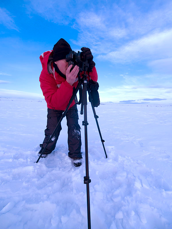 Me in action on an arctic plateau just away from our base camp. Nr Karasjok, Norway. Olympus E1, 7-14mm, F4.5, 1/250s