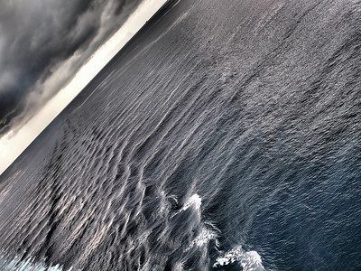 April 29 2011. In the med between Gilbraltar and SE Spain. Loved the seas and wake on this one with the Oly E5 dramatic tone art filter.