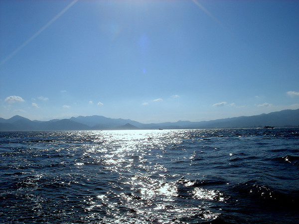 As we sail back to our anchored ship from the south of France, I took this picture of the sea, so peaceful and calm.