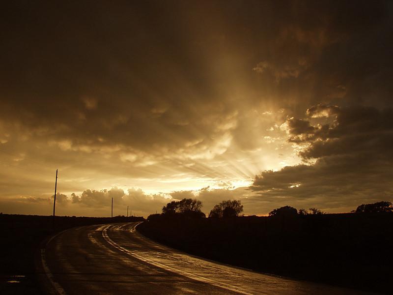 Stunning mammatus sunset after tornado had just passed through Bolivar, Missouri, USA