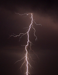Great CG bolt from an early storm chase in Oklahoma 2002. Olympus E10