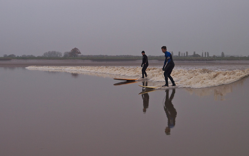 Steve & Nathan and some great reflections. A lovely bore wave.